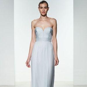 AMSALE Sweetheart Silk Crinkle Chiffon gown size 6